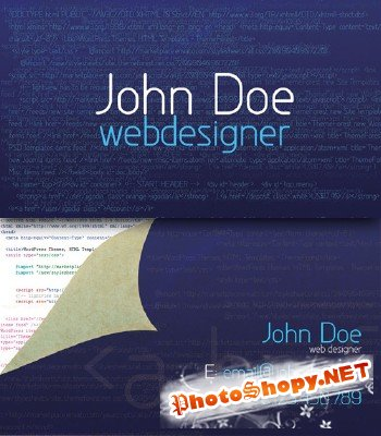 Webdesigner business card