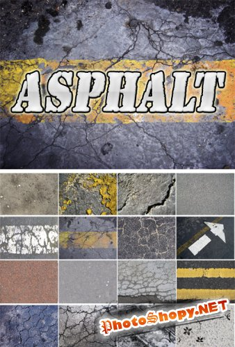 Asphalt textures Collection