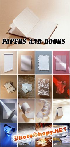 Papers and Books - Backgrounds Collection