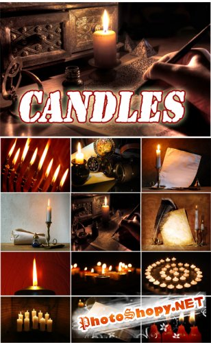 Candles - Rastr Cliparts