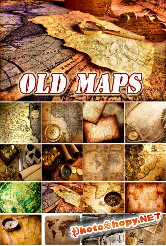 Old maps Backgrounds Collection