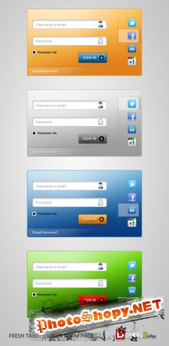 Fresh & Free! Tabbed Login Form Pack