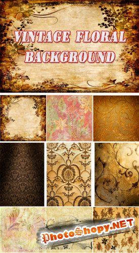 Vintage Floral Backgrounds Collection