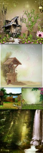 Backgrounds - 5 Magical Papers