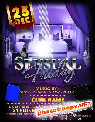 Sensual Friday Flyer