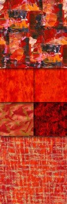 Set of red texture