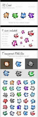 GraphicRiver - 30 Crack Social Icons