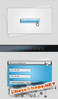 Internet business card