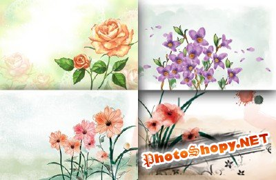 Flower backgrounds pack 5