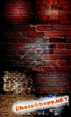 A set of textures of brick wall