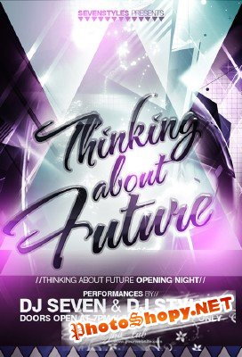 Thinking Future Flyer Template