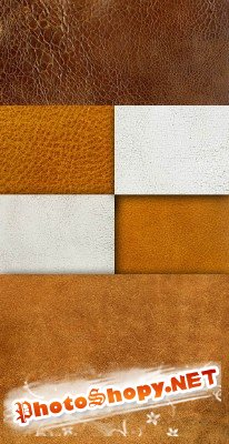 A set of leather textures
