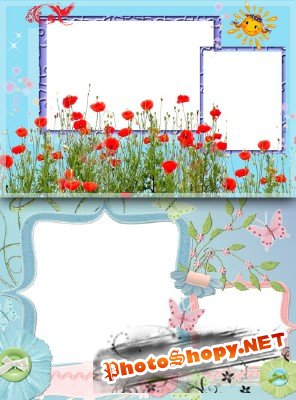 Photo Frame - Red Poppies