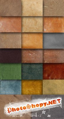 A large set of leather textures