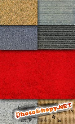 Set of colored carpet texture