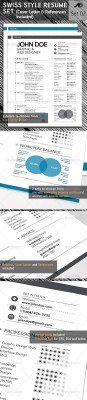 GraphicRiver - 3-Piece Swiss Style Resume set