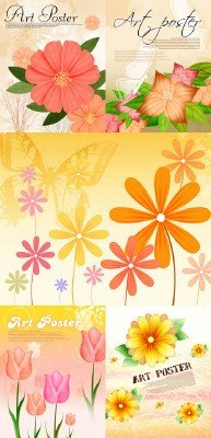 Flower backgrounds pack 16