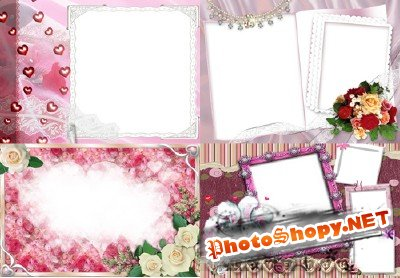 Photo Frame - Cute rabbits