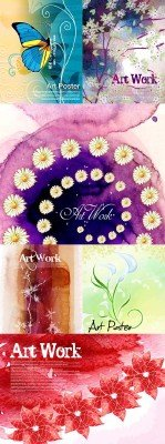 Flower backgrounds pack 19