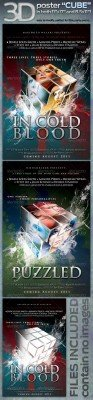 "GraphicRiver - 3D poster ""CUBE"" in both, 11""x17"" AND 8.5""x11"""