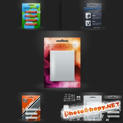 Exhibition blister pack mockup