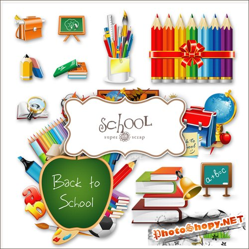Scrap-kit - Back To School