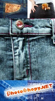 Set denim texture # 5