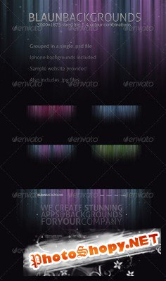 GraphicRiver - Blaun Web & Iphone backgrounds