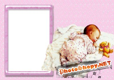Photo Frame - Sleeping baby