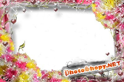 Photo Frame - Bright Flowers