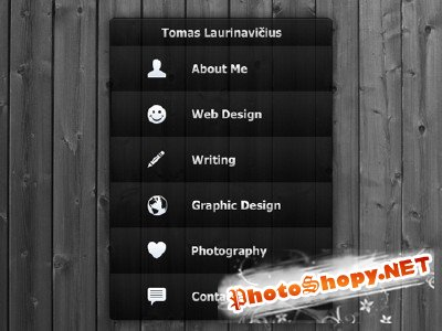 FREE Simple and Slick Accordion Menu in Photoshop