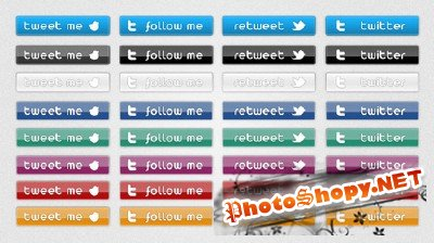 FREE Twitter button set