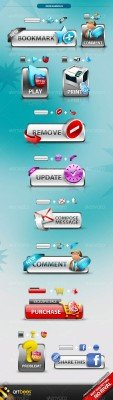 GraphicRiver - Lifetime Button Templates