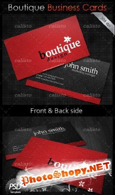 Boutique business card PSD Template