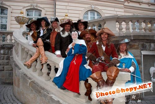 Женский шаблон - Монашка и мушкетеры