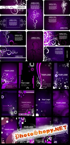 Violet Banners Vector Backgrounds