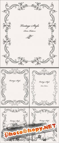 Vintage Vector Backgrounds / Frames, Borders
