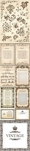 Vintage Vector Backgrounds #2