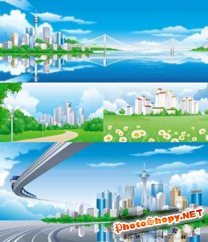 ������ � ������� / City vector Collection