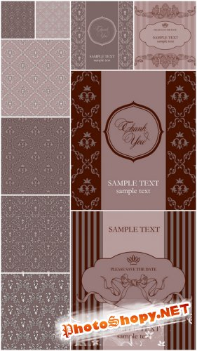 Vintage Vector Backgrounds - Vintage, vector, patterns, background