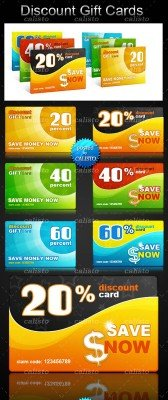 Discount Gift Cards PSD Template