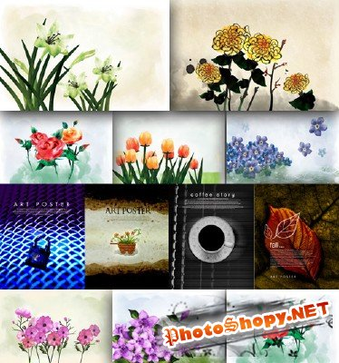 Flower backgrounds pack 20