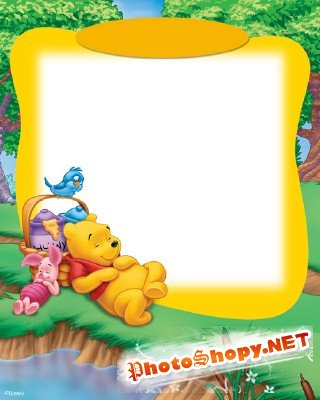 Photo Frame - Winnie the rest