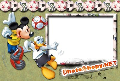 Photo Frame - Playing football