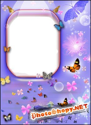 Photo Frame - Flying Butterflies