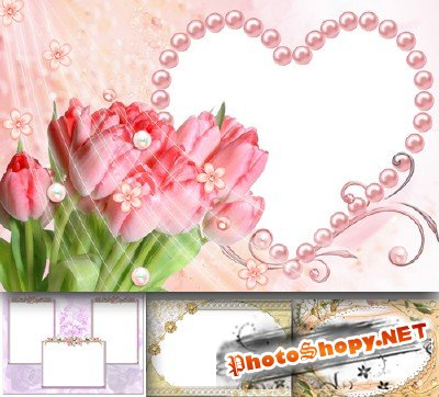 Photo Frame - Elegant tulips