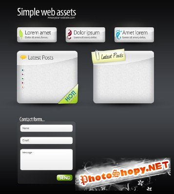 Web Boxes & Web Buttons - GraphicRiver
