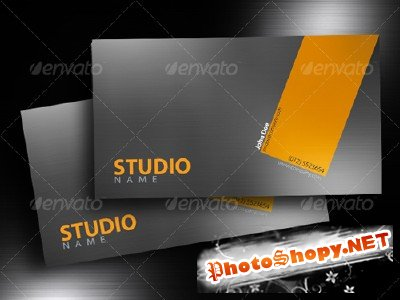 Graphiciver - Brushed Aluminium Business Card