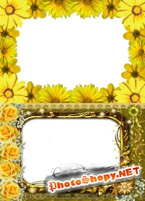 Photo Frame - Spring Yellow Flowers