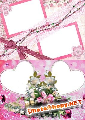 Photo Frame - Romantic bouquet